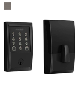 Schlage Encode Smart WiFi Deadbolt with Century Trim in Matte Black