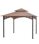Sunjoy D-GZ136PST-N 10'x10' Soft Top Gazebo for Sun Shade or Grilling