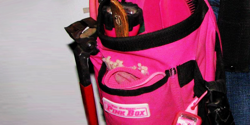 The Original Pink Box PB2BELT Women Tool Belt in the use