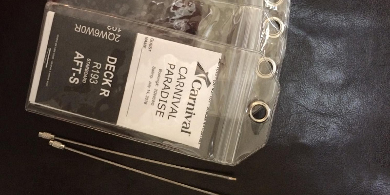 Review of Highwind Cruise-Luggage-Tags Zip Seal & Steel Loops Thick PVC