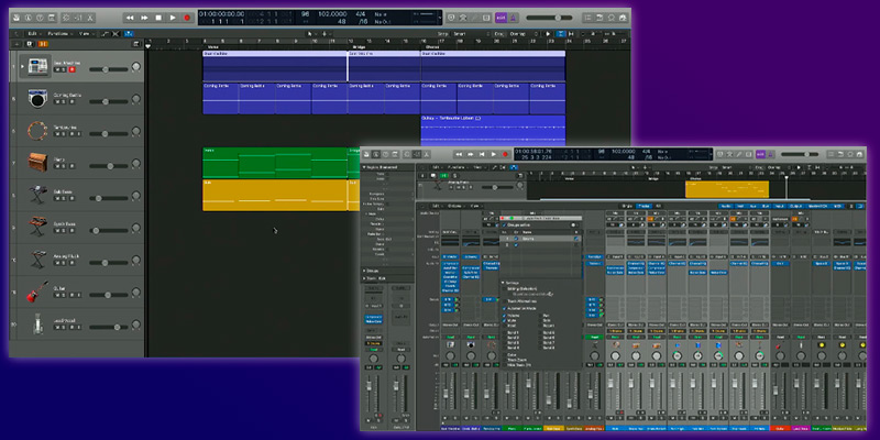 Apple Logic Pro X in the use