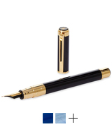 Waterman Perspective Black with Golden Trim