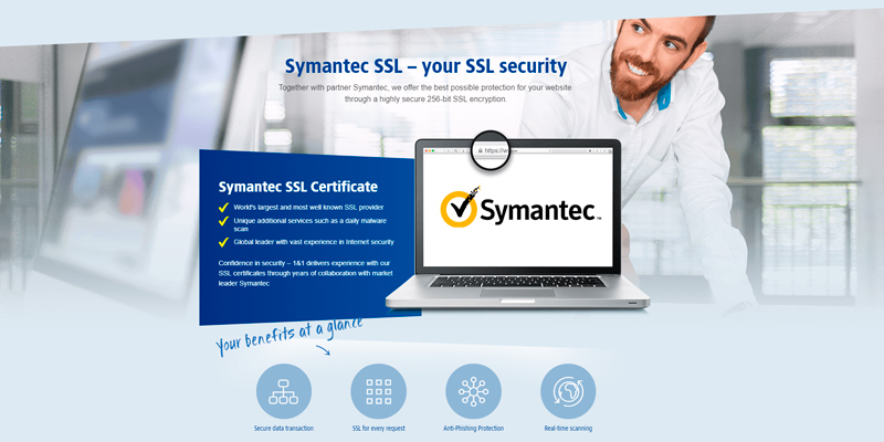 1&1 SSL Certificates in the use