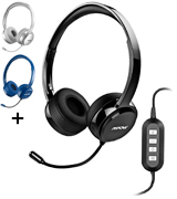 Mpow FBA_PAMPPA071AB-USSA1-PTX USB Headset/3.5mm Computer Headset with Microphone Noise Cancelling
