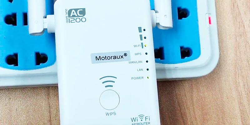 Review of Motoraux 1200Mbps Dual Bands Wi-Fi Range Extender