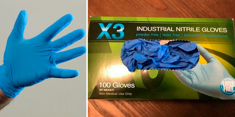 Review of AMMEX X3 Industrial Blue Nitrile Gloves