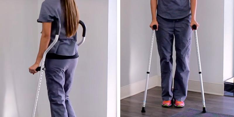 Life Crutch Adjustable Ergonomic Handles for Adult and Child in the use