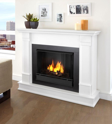 Review of Real Flame G8600W Silverton Gel Fireplace in White