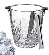 Bormioli Rocco Glass Co Ice Bucket with Tongs