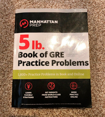 Review of Manhattan Prep 5 lb. Book of GRE Practice Problems