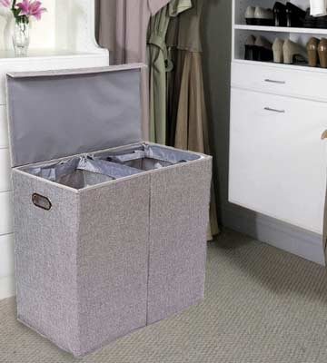 Review of BirdRock Home Home Double Laundry Hamper with Lid