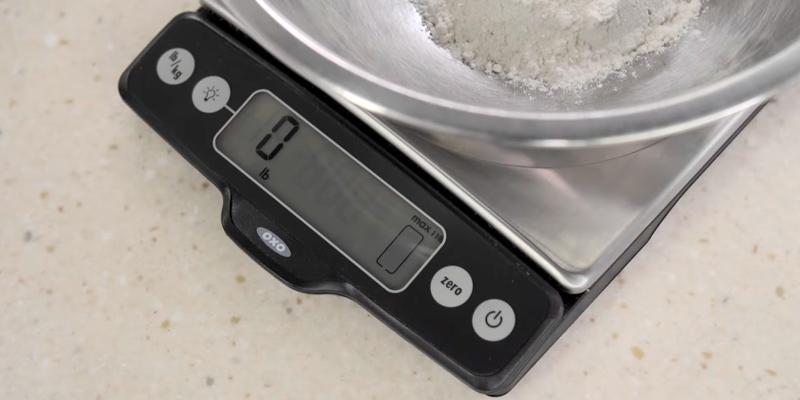 OXO Good Grips 11 lb Stainless Steel Food Scale in the use