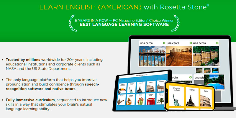 Review of Rosetta Stone Learn English (American) Online