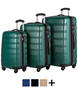Merax Luggage Set 3 Expandable Lightweight Spinner Suitcase