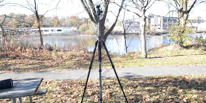 Neewer Carbon Fiber Camera Tripod Monopod with Ball Head, Quick Shoe Plate, Bag in the use