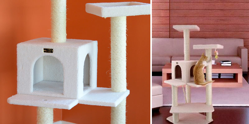 Armarkat Cat Tree Furniture Condo in the use