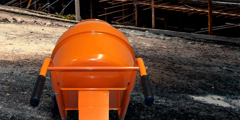 Generic Wheel Barrow Portable  Cement Concrete Mixer in the use