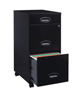 Lorell 17427 3-Drawer Mobile File Cabinet