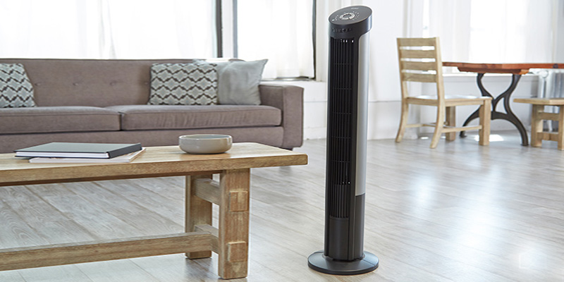 Seville Classics 40-Inch Oscillating Tower Fan in the use