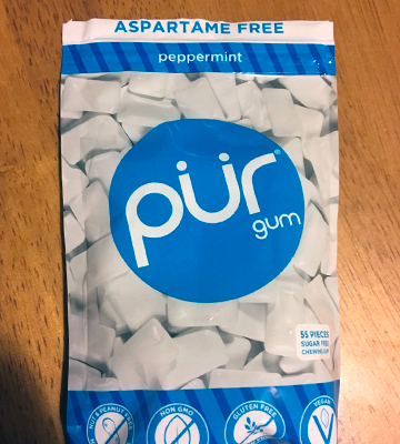 Review of PUR Peppermint Aspartame Free, Sugar Free, 100% Xylitol, Natural Chewing Gum