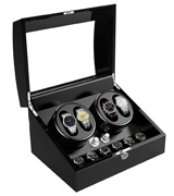 Triple Tree 02 Automatic Watch Winder with 4 Winder Positions, 6 Storage Spaces