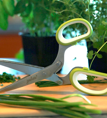 Review of Jenaluca Heavy Duty 5 Blade Herb Scissors with Safety Cover