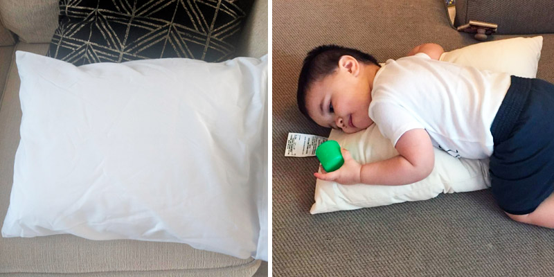 Review of Dreamtown Kids Toddler Pillow with Pillowcase