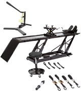 Rage Powersports BW-SK-E Motorcycle Lift Table with Accessorizes