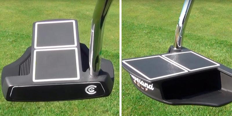 Cleveland Golf Smart Square Heel Shafted Mallet Putter in the use
