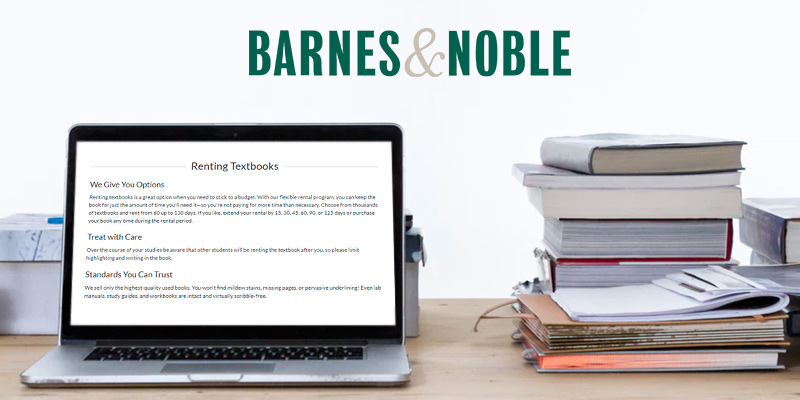 Barnes & Noble Textbook Rental in the use