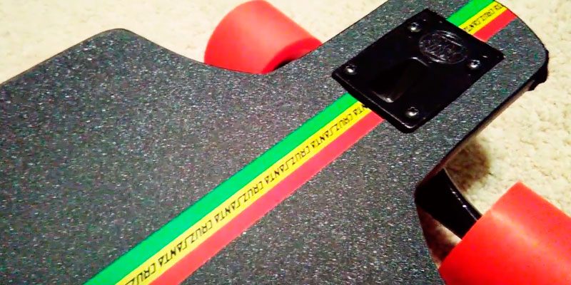 Santa Cruz Lion God Rasta Cruzer Freeride Longboard application