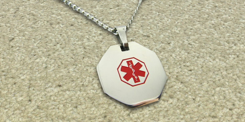 Review of My Identity Doctor P1R-CST-N22 Medical Alert Necklace with Free Engraving