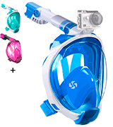 WSTOO Full Face Snorkel Mask-Advanced Safety Breathing System