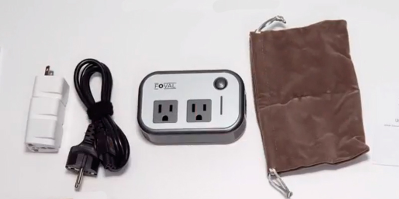 Review of Foval Travel Adapter-B Voltage Converter, Step Down 220V to 110V (4-Port USB)