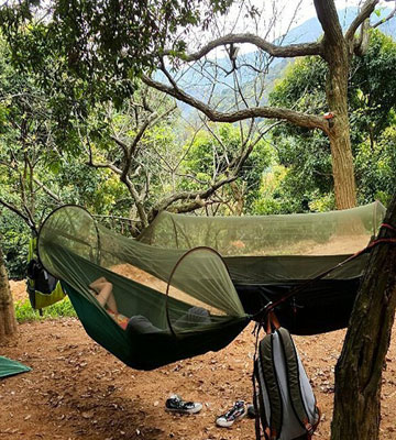 Review of G4Free Portable & Foldable Hammock for Camping with a Mosquito Net