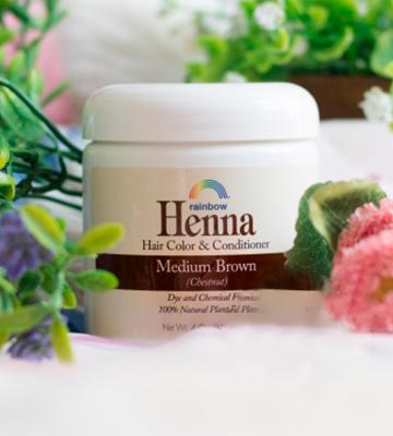 Review of Henna Rainbow Hair color&conditioner Med Brown (Chestnut)