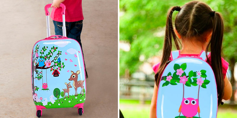 Review of Goplus Deer & Birds Luggage Set