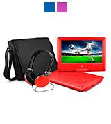 Ematic EPD909RD Portable DVD Player with Headphones and Bag
