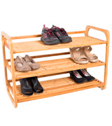 BirdRock Home BamRack0 3-Tier Bamboo Shoe Rack