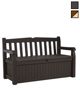 Keter Outdoor Patio Storage Garden Bench
