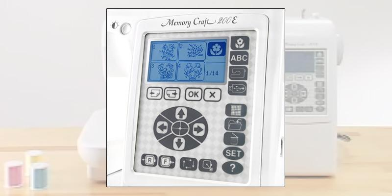 Janome 001200E Memory Craft Embroidery Machine in the use