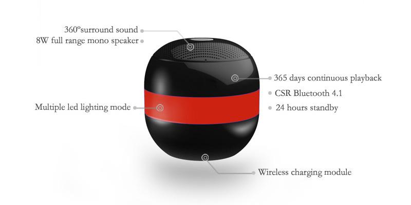 B4M OVL-Dark Black Levitating Bluetooth Speaker - Portable Floating & Rotating Wireless Speaker with Bluetooth 4.1 in the use