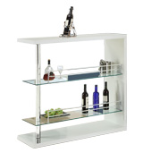 Coaster Home Furnishings Table with Two Glass Shelves
