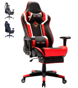 Ficmax High Back Computer Gaming Chair with Retractable Footrest