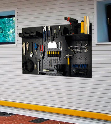 Review of Wall Control 30-WRK-400 BB Metal Pegboard Storage Kit with Black Toolboard and Black Accessories