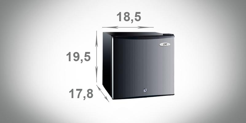 Detailed review of SPT 1.1 Cu.Ft. Upright Freezer