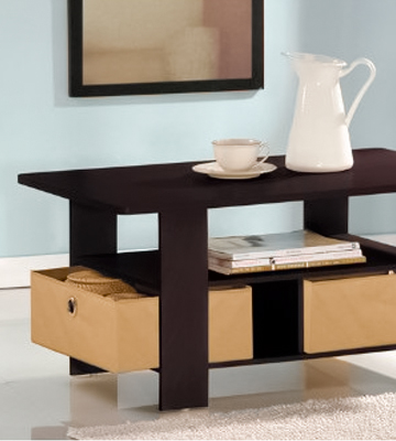 Review of Furinno 11158EX/BR Coffee Table with Bins