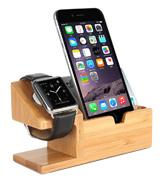 Amir Bamboo Wood Desk Stand Charger