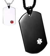 JF.MED P-YX-003BB-24 Medical Alert ID Pendant,Free Engraving
