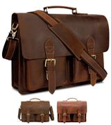 Kattee XZ122 Handmade Genuine Leather Laptop Briefcas